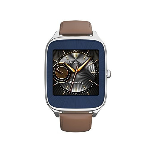ASUS ZenWatch 2 Silver with Camel Leather Strap 41mm Smart Watch with...