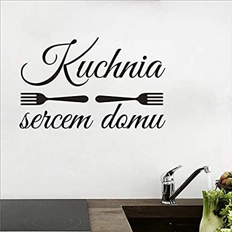 Dekoracja kuchni Kuchnia sercem Domu naklejka winylowa, Polonia Wall ...