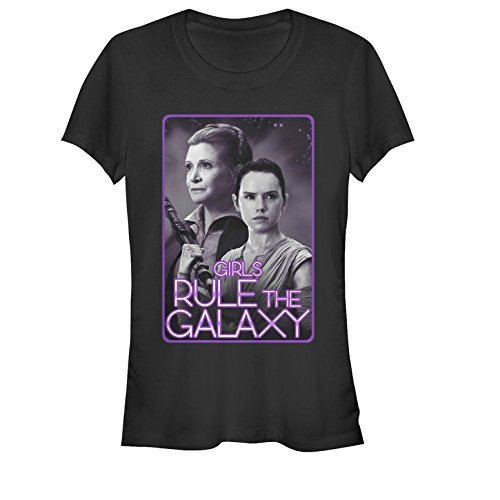 Star Wars Juniors Girls Rule Graphic T-Shirt, Black, S