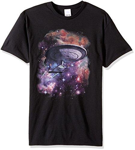Star Trek Spacecraft (Star Trek Men's Spacecraft In Galaxy T-Shirt, Black, X-Large)