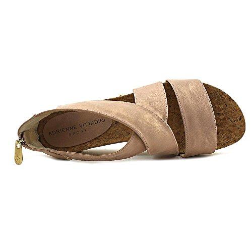 Adrienne Vittadini Schuhe Damen Claud Sandal Wildleder Metallic Rose Gold