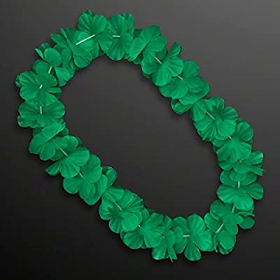 blinkee Hawaiian Flower Lei Necklace Green by: Toys & Games