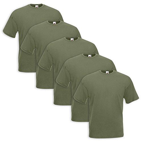 Fruit of the Loom 5 T-Shirt Set 5 Pezzi Verde Militare 6t2LsBxk