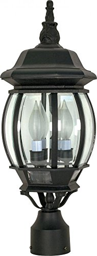 Nuvo Lighting 60/899 Three Light Lantern Post Mount, Black ()