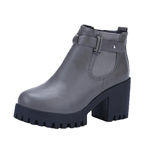 Colorful TM Fashion Women Boots Square Heel Platforms Thigh High Pump Boots Motorcycle Boots Shoes Gray gnPm7lCvT