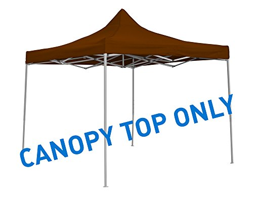 Trademark Innovations 9.6′ x 9.6′ Square Replacement Canopy Gazebo Top Assorted Colors (Brown)