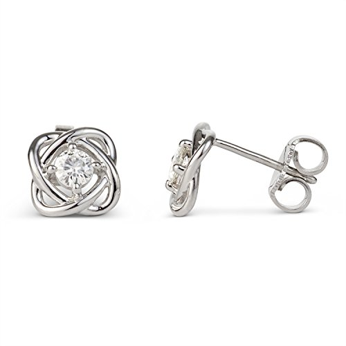 Forever Classic 3.25mm Round Moissanite Knot Stud Earrings by Charles & Colvard from Charles & Colvard