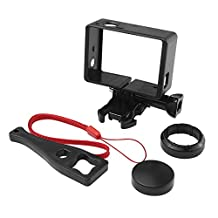 Tomcrazy 6 in 1 Sets Standard Compact Frame Mount Protective Housing Shell Case For GoPro Hero 4 3+ 3 2 with Mount+Bolt Screw+Lens Cap+UV Filter Lens Protector