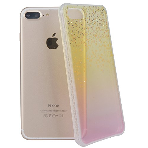WE LOVE CASE iPhone 7 Plus Coque, Étui Transparente de Protection en Premium Silicone Housse Souple Mince et Clair, Bumper Gel Bling Cas Briller Couverture Paillette Motif Diamante Brilliant Case Pour