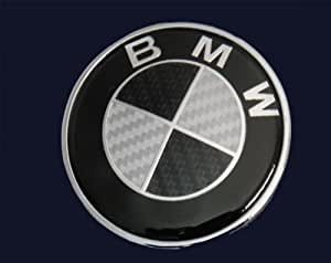 bmw real black carbon fiber emblem for hood or. Black Bedroom Furniture Sets. Home Design Ideas