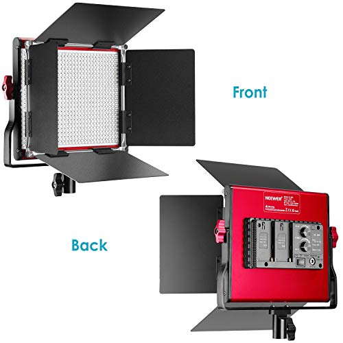 Neewer LED Video Light, Bi-Color Dimmable 660 Beads, Durable Metal Frame with U Bracket and Barndoor, 3200-5600K, CRI 96+ for Studio, YouTube, Product Portrait Photography, Video Shooting (Red) by Neewer (Image #5)