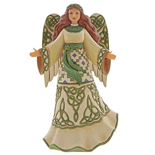 Enesco Jim Shore Heartwood Creek Irish Angel with Celtic Dress