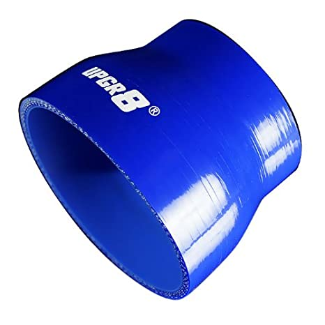Upgr8 Universal 4-Ply High Performance Straight Reducer Coupler Silicone Hose 63MM 2.0 , Blue to 2.5 51MM
