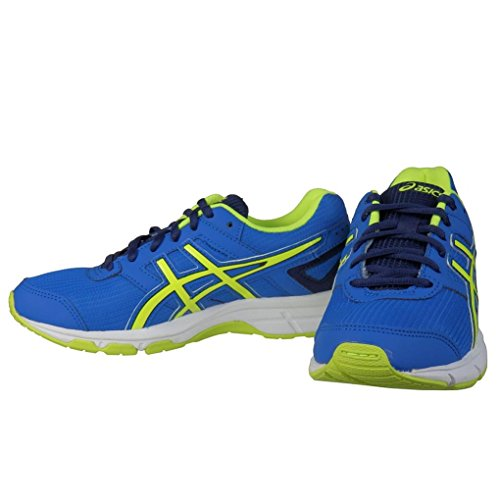 Asics Gel-Galaxy 8 GS, Unisex-Erwachsene Laufschuhe Blau (electric Blue/flash Yellow/ind 3907)