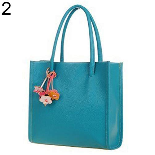 Shoulder Handbag Leather Brown Flowers Candy Bag Sweet Clearance Blue Zipper Faux Colors Sale Bangle009 Women's qwv1vS