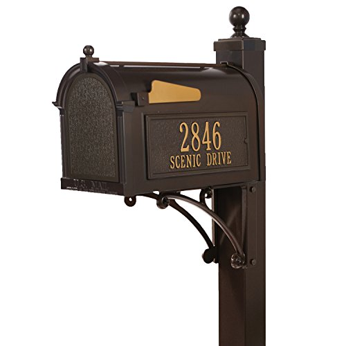 Whitehall Products Deluxe Mailbox Package, French Bronze (Whitehall Package Mailbox Deluxe)
