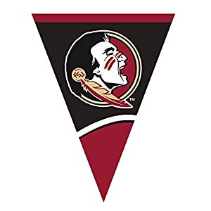 Creative Converting Plastic Flag Banner, Florida State University, Garnet/Gold by Creative Converting