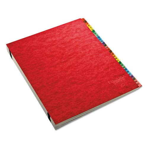 Expandable Desk File, A-Z Index, Letter Size, Acrylic-Coated PressGuard, Red, Sold as 1 Each