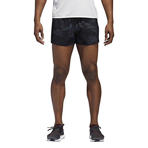 adidas Sport Performance Men's Response Split Shorts, Carbon, Black, -