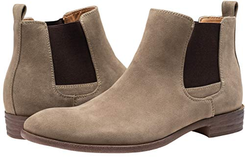 Pictures of JOUSEN Men's Chelsea Boots Elastic Formal Gray 11.5 M US 3
