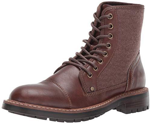 Tommy Hilfiger Men's HOWIN Fashion Boot, Cognac, 10 Medium US