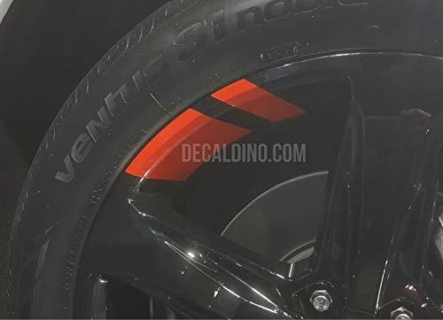 Decaldino Wheel Accent Hash Mark Redline Decals for Camaro + Light Red