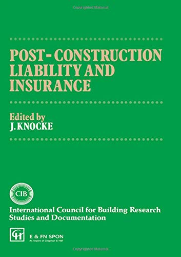 Post-Construction Liability and Insurance (The National Swedish Institute for Building Research)