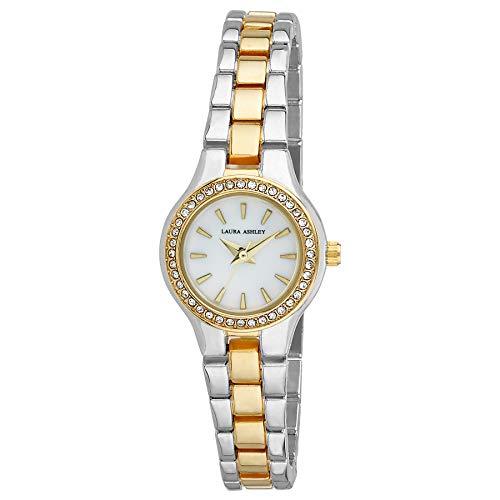 Laura Ashley LA31035TT Ladies Mini Link Crystal Bezel Bracelet Watch