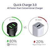 Dual Quick Charge 3 USB Car Charger for Kobo Aura