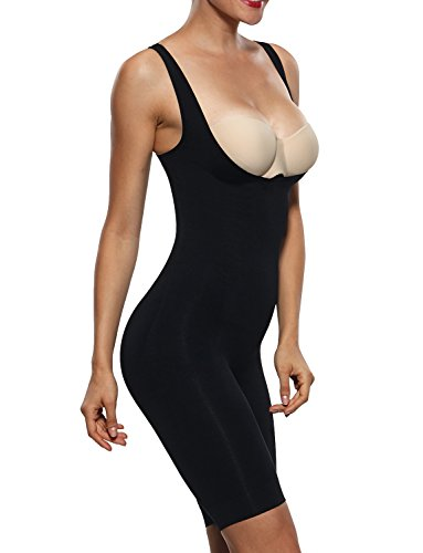 Length Shapewear Tank - Franato Women's Shapewear Bodysuits Tummy Control Slimmer Body Shaper Black XL