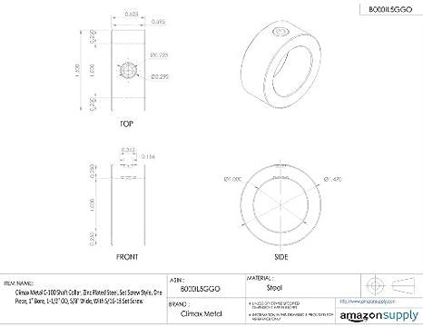 Amazon.com: Climax metal C-100 Shaft Collar, acero chapado ...