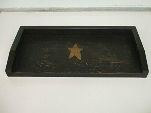 (Primitive Commode Toilet Cover Board Black w/MUSTARD Star)