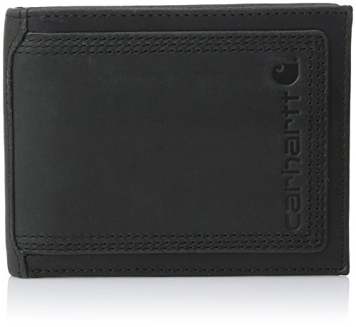 Carhartt Men's Top Grain Leather Passcase, Contrasting Stitc