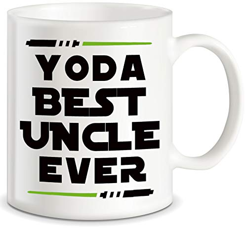 Fathers Day Gift for Uncles from Niece Nephew Yoda Best Uncle Ever for Worlds Awesome Uncle Funny Gag Gift Idea Ceramic Coffee Novelty Mug Tea Cup for Christmas or Birthday by Classic Mugs