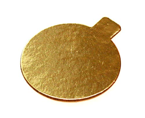 600-Single Pastry 3.25-inch Gold Cake Boards with Tabs