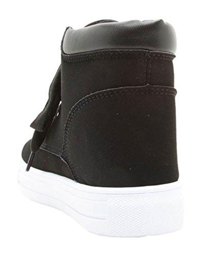 Giovani Donne Sneaker Schoenen Dames Lace Up Sportieve Chique Stijl Casual Damesschoenen Zwart-nubuck