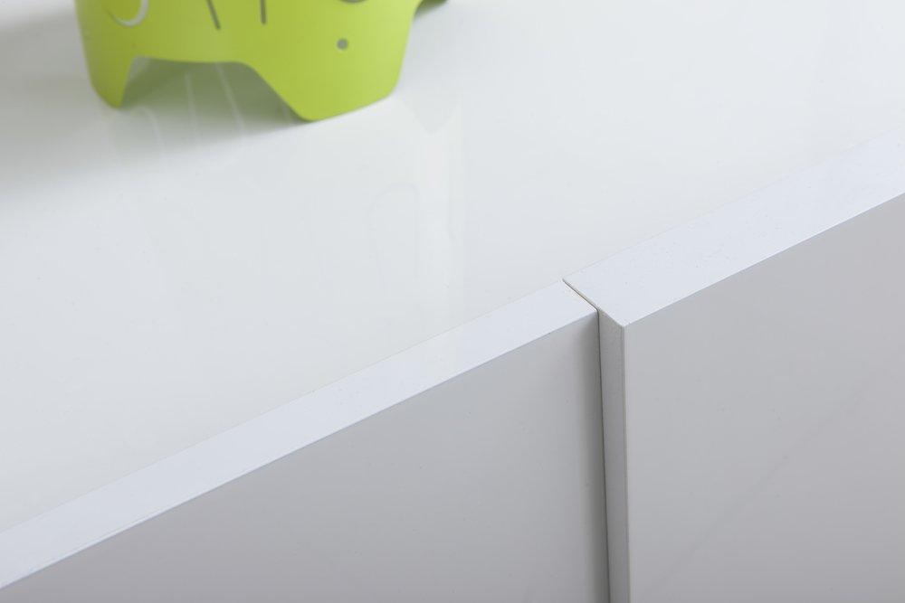 Composad Cassettiera con 6 cassetti di Colore Bianco Lucido Linea Arcora