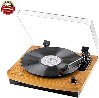 Musitrend LP - Tocadiscos para DJ, 3 velocidades con altavoces ...