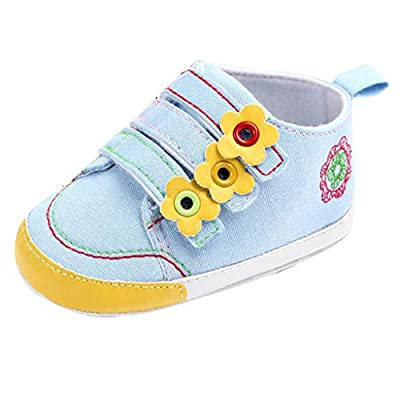 NUWFOR Baby Girls Newborn Infant Baby Canvas Shoes Casual First Walkers Toddler Shoes White
