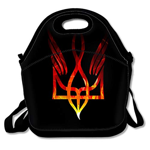 Coat Of Arms Ukraine Trident Lunch Tote, Insulated Thermal Lunch Bag Waterproof Lunch Box