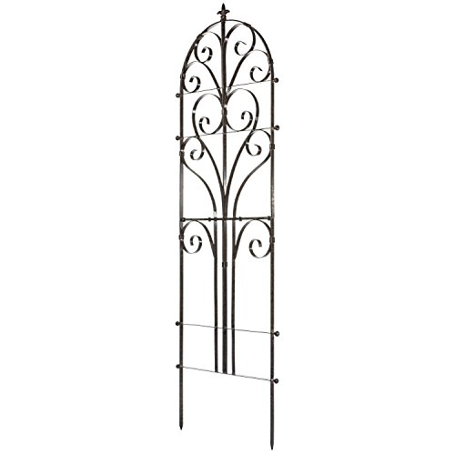 H Potter Italian Iron Garden Plant Trellis Metal Weather Resistant Wall Art -
