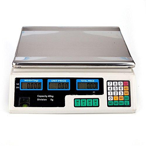 88LB 40 kg báscula digital precio computación alimentos electrónica con contador Peso Cargador + Bonus E-book gratuito por allgoodsdelight365: Amazon.es: ...