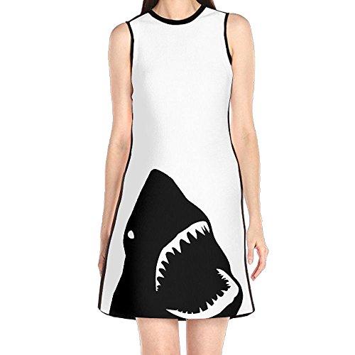 sandals Womens Dresses, Shark White Summer Beach Dress for Girl Woman