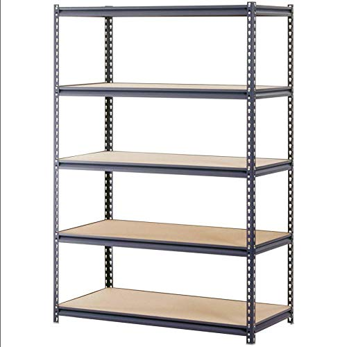 Aromzen Industrial Gray Heavy-Duty Steel Boltless Shelving Storage Rack, 1400 lb Capacity, 48