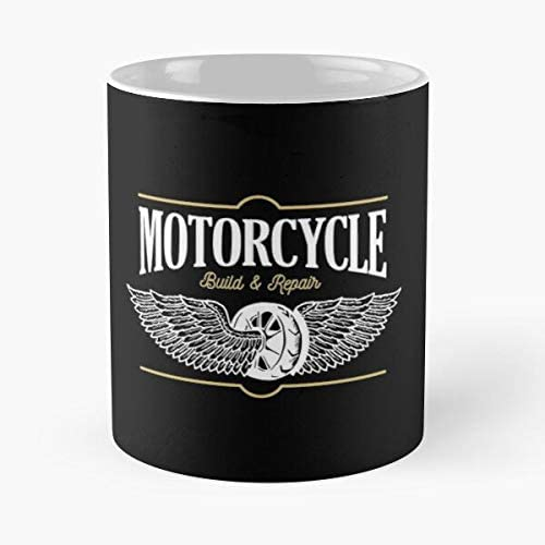 Shinerstore Build Wheel Repair American Accessories Garage Muscle Motorcycle Racing Taza de café con Leche 11 oz