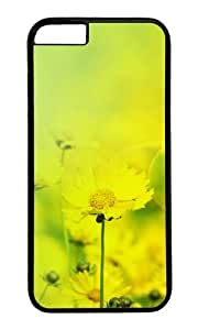 MOKSHOP Adorable Autumn chrysanthemum Desktop Hard Case Protective Shell Cell Phone Cover For Apple Iphone 6 Plus (5.5 Inch) - PC Black