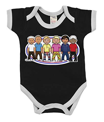 vipwees Babies Unisex Boys Girls Golf Legends Caricature Babygrow