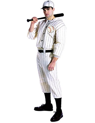 Old Tyme Baseball Player Adult Costume - One Size -