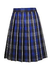 Cookie's Brand Big Girls' Pleated Skirt - Gray/Royal/White *Plaid #62*, 12