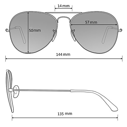 654526b908 ... Mirrored And Womens Aviator Case Lens C12 Polarised Sunglasses Bag  Glasses Travel Mens Silver with IUxtqwvpx ...